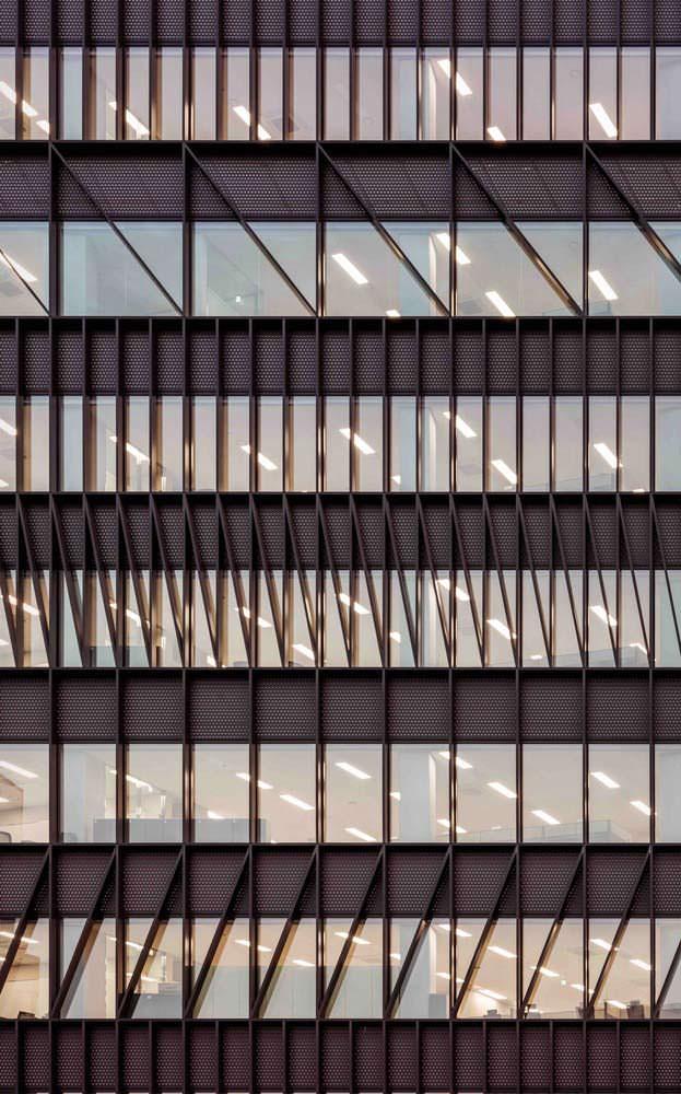 Дизайн фасада офисной башни в Сеуле от Mecanoo