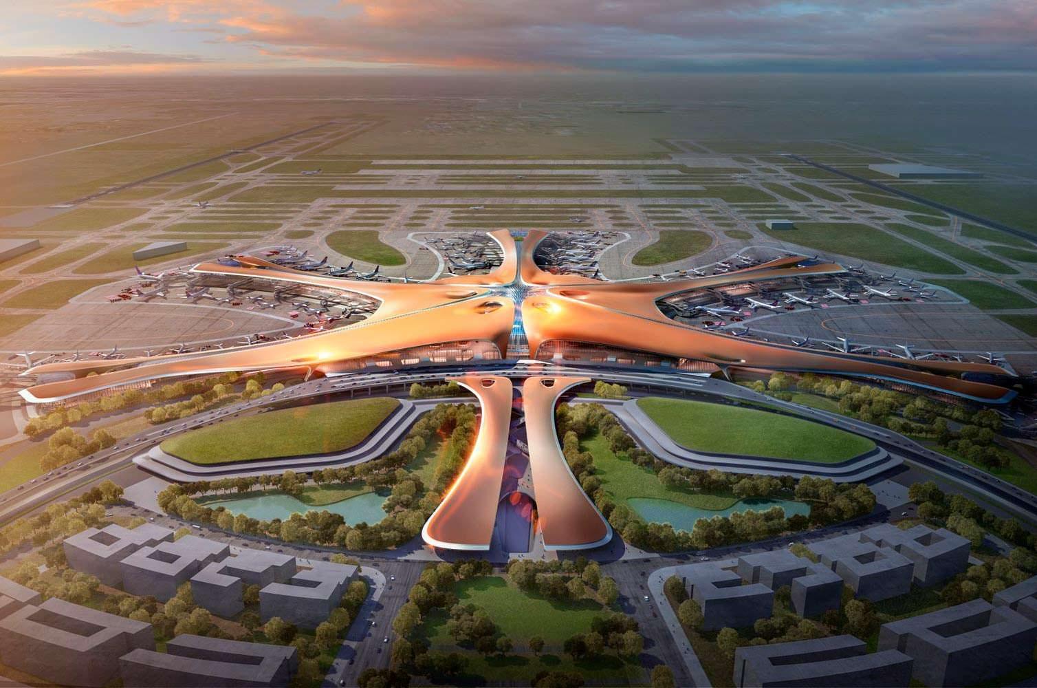 Фото | Самый большой аэропорт мира от Zaha Hadid Architects