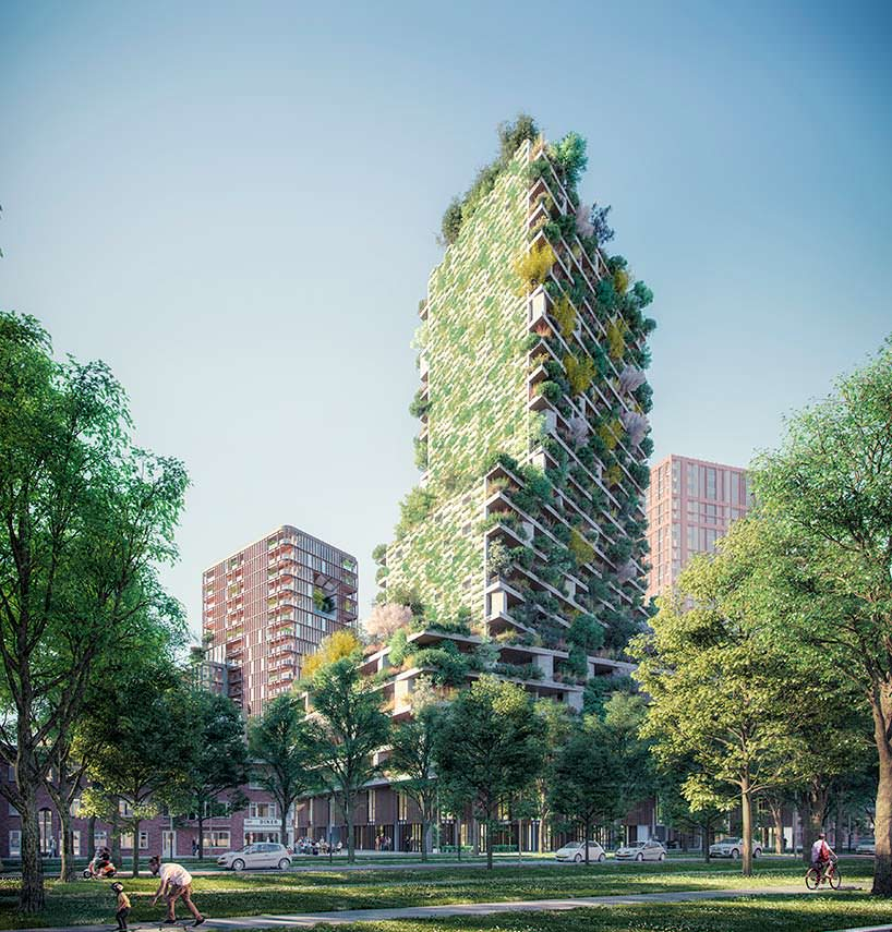 Зеленая башня Hawthorn Tower от Stefano Boeri Architetti