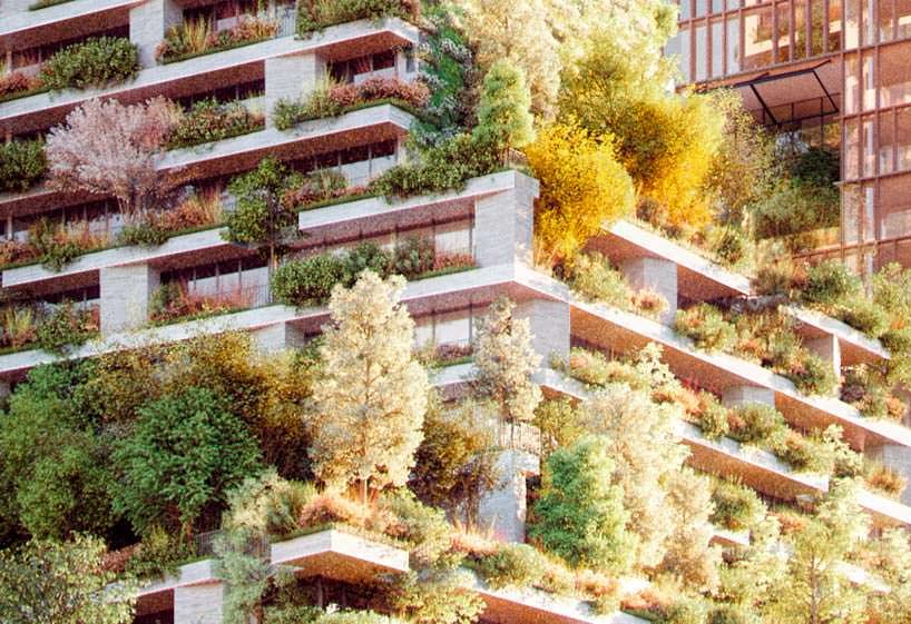 Фасад зеленой башни Hawthorn Tower: более 10 000 растений