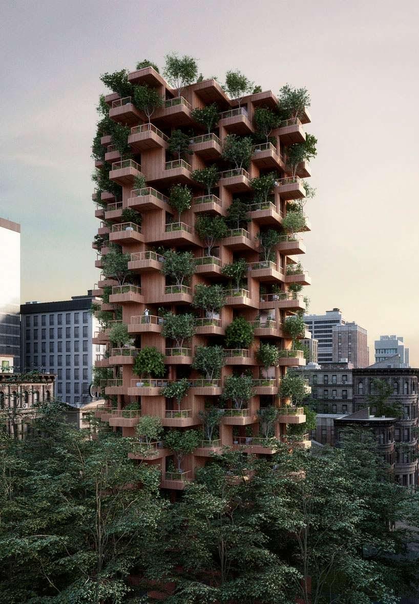 18-этажный деревянный небоскреб в Торонто от Penda + Timber
