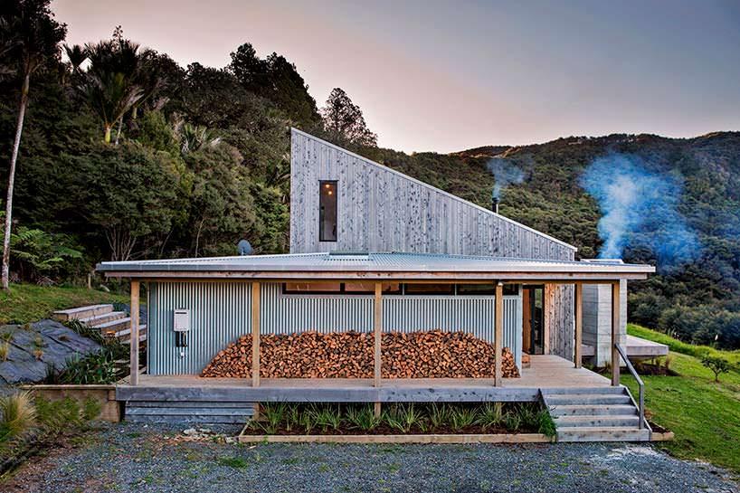 Домик в Джунглях Новой Зеландии. Архитектор Дэвид Морис