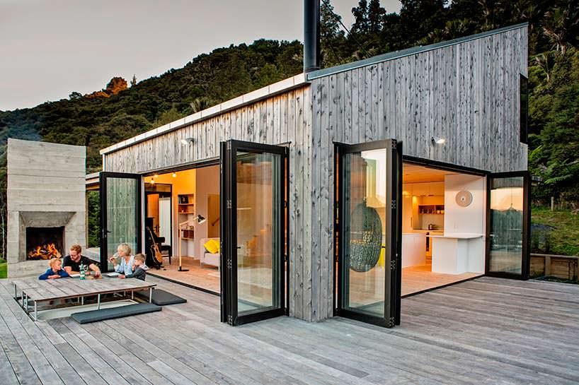 Домик с террасой в Джунглях Новой Зеландии от Дэвида Мориса