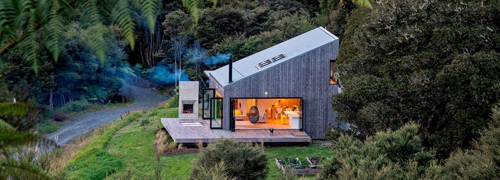 Домик в джунглях Новой Зеландии от LTD Architectural