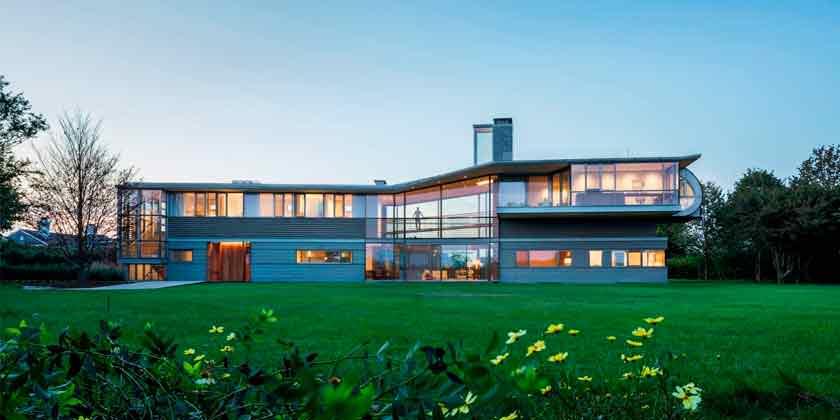 Пляжны дом на Лонг-Айленде от Bohlin Cywinski Jackson