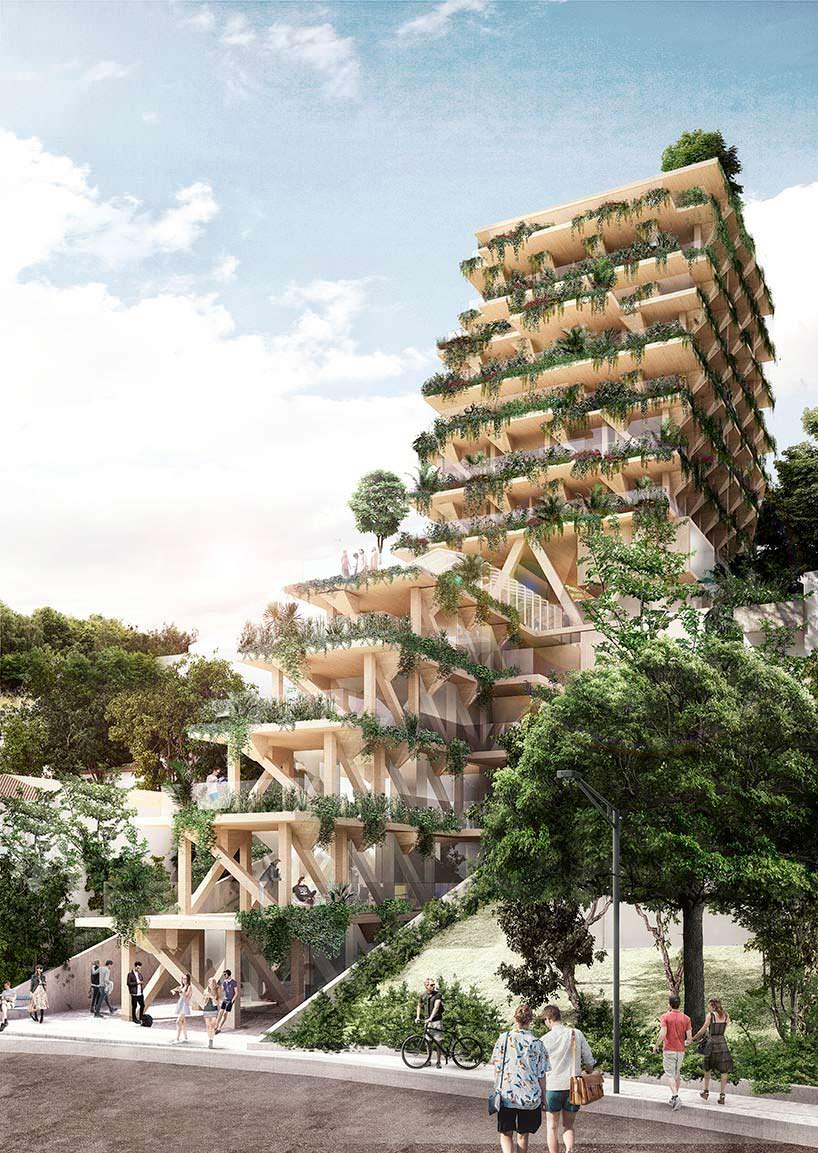 13-этажная деревянная башня в Сан-Паулу