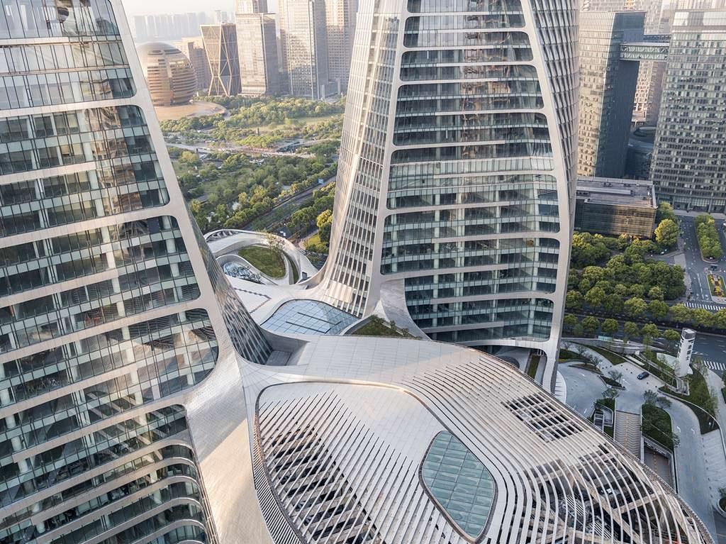 Многоцелевой комплекс Raffles City в Гуанчжоу от UNStudio