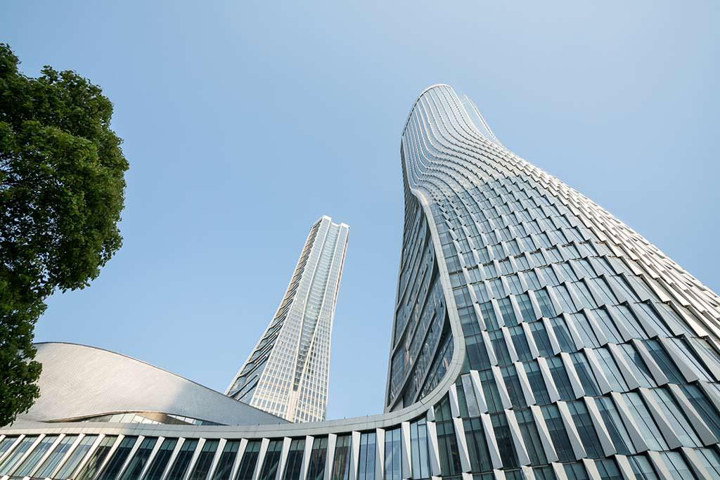 Комплекс Raffles City с башнями на 60 этажей от UNStudio