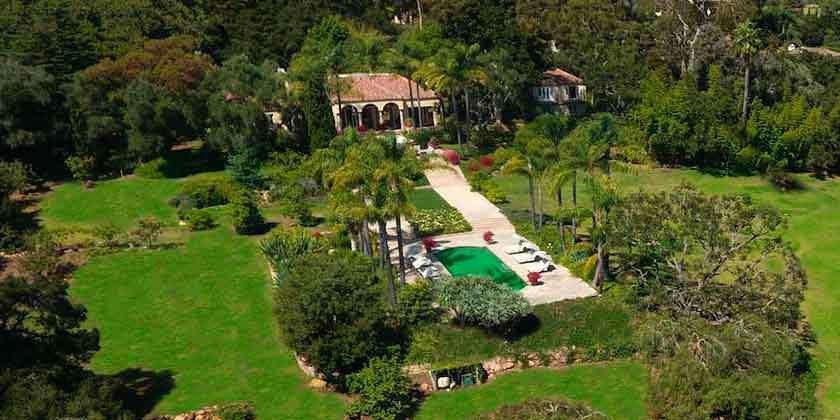 Дом Джины Дэвис в испанском стиле в Монтесито продаётся