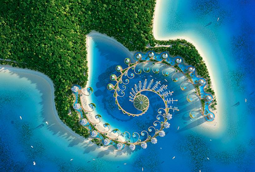 Спиральный эко-курорт Nautilus Eco-Resort от Винсента Каллебо