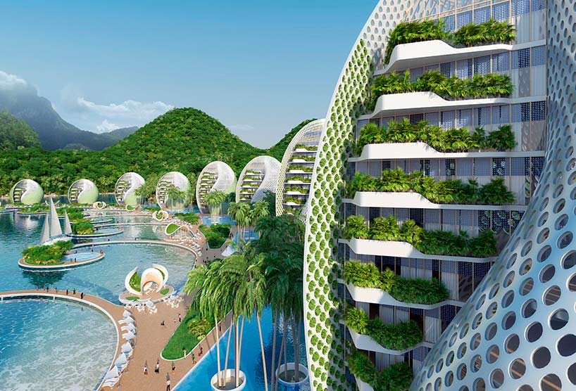 Вращающиеся на 360 градусов башни комплекса Nautilus Eco-Resort