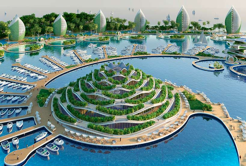 Nautilus Eco-Resort - эко-курорт с вращающимися башнями
