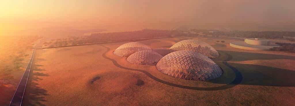 Космический комплекс Mars Science City в пустыне Дубая