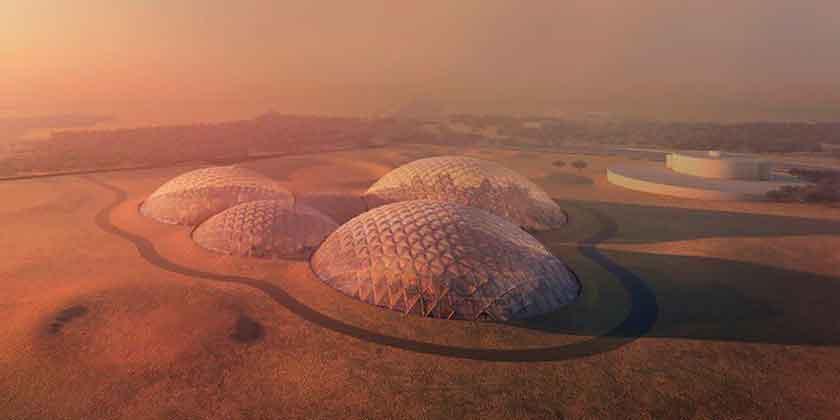 BIG построит в пустыне ОАЭ симулятор города на Марсе | фото