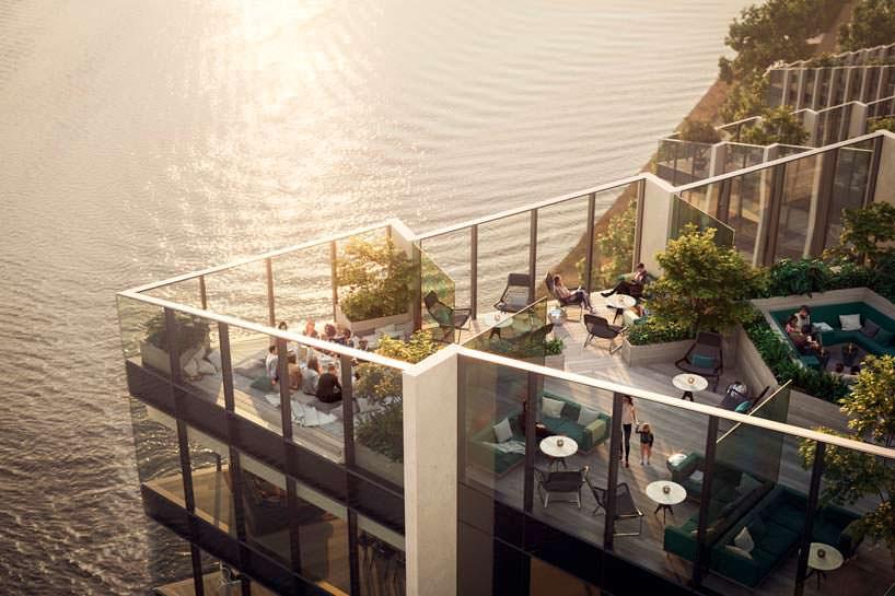 Комплекс башен Upper Riverside: панорамные крыши с видом 270°
