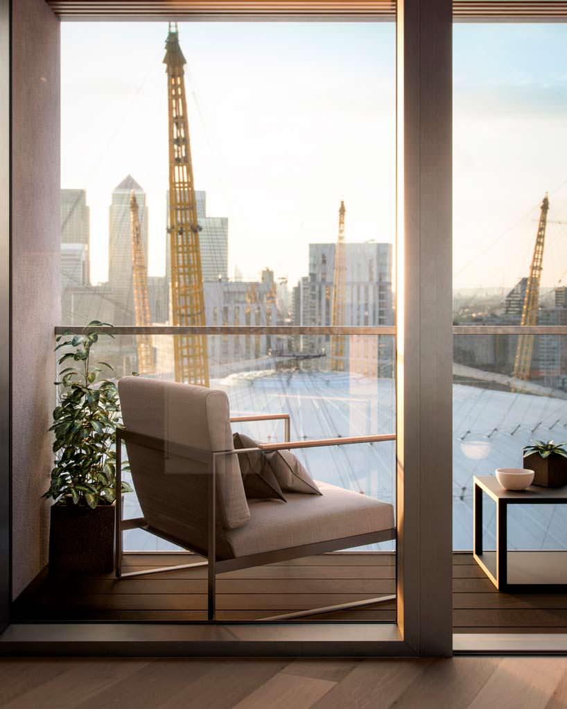 Вид на арену O2 в Лондоне из квартиры в небоскребе