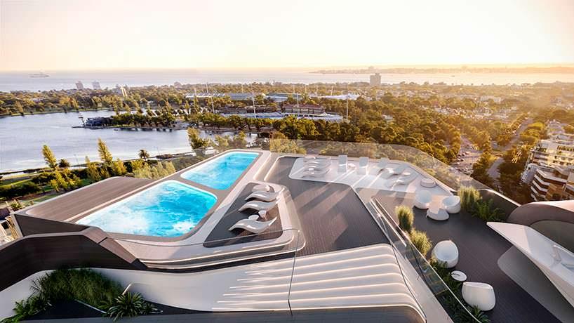 Пляжный клуб на крыше башни Mayfair от Zaha Hadid Architects
