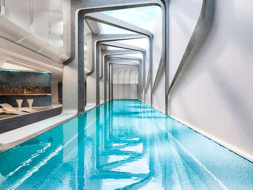 Плавательный бассейн в башне Mayfair от Zaha Hadid Architects