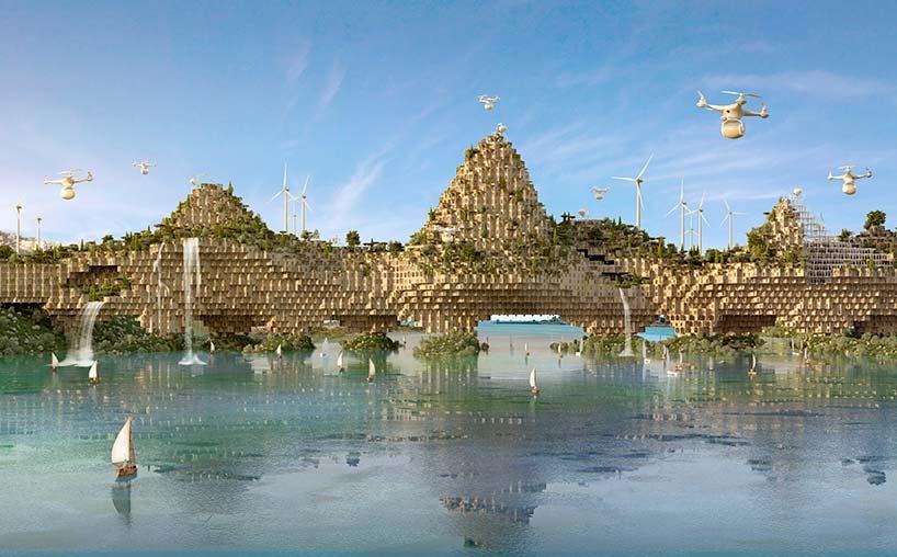 Многоквартирный комплекс-мост над водой реки Тигр