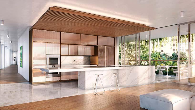 Элитный дизайн кухни в квартире ЖК Monad Terrace от Жана Нувеля