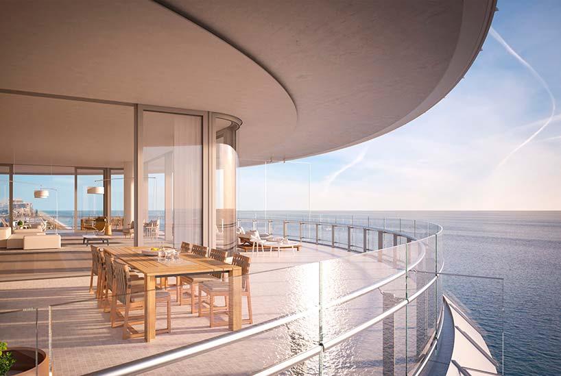 Eighty Seven Park: панорамная терраса квартиры с видом на океан