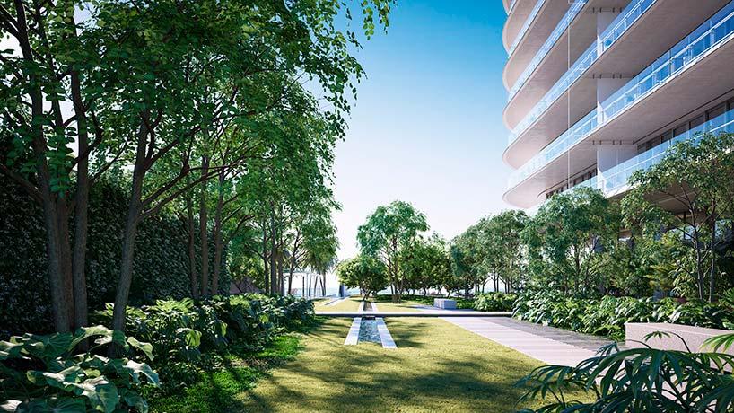 Ландшафтный парк у комплекса Eighty Seven Park в Майами