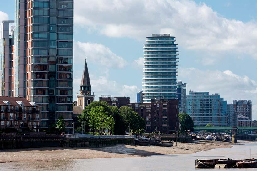 28-этажная башня Lonbard Wharf на берегу Темзы в Лондоне