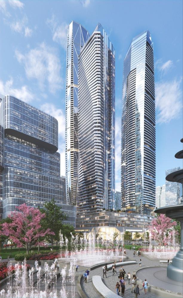 Стеклянные небоскребы в Торонто от Hariri Pontarini Architects