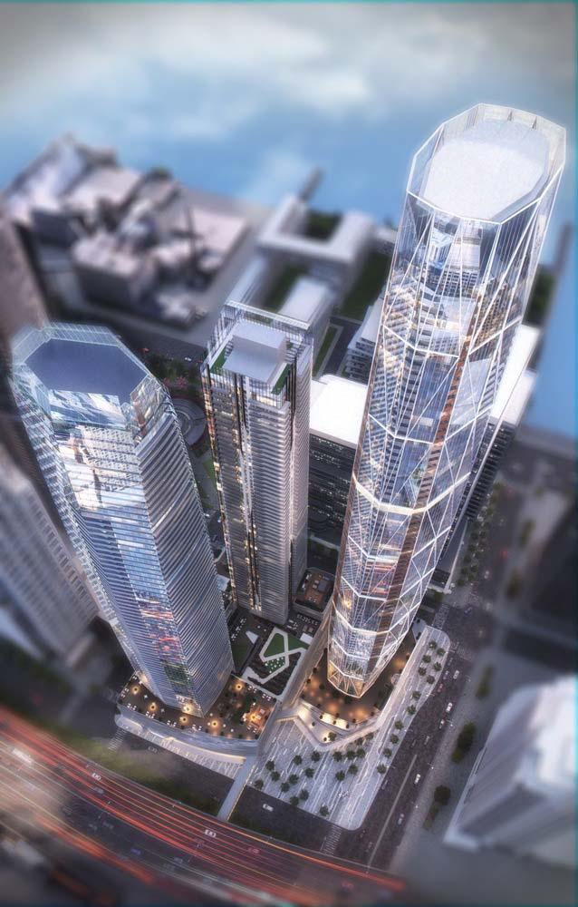 Новые небоскребы в Торонто от Hariri Pontarini Architects