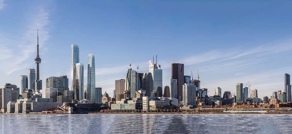 Набережная Торонто и небоскребы