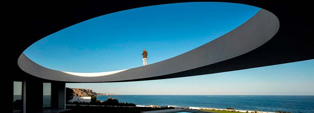 Панорама на Атлантический океан в Португалии