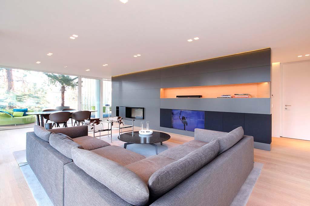 Современный дизайн гостиной от итальянской студии JMA