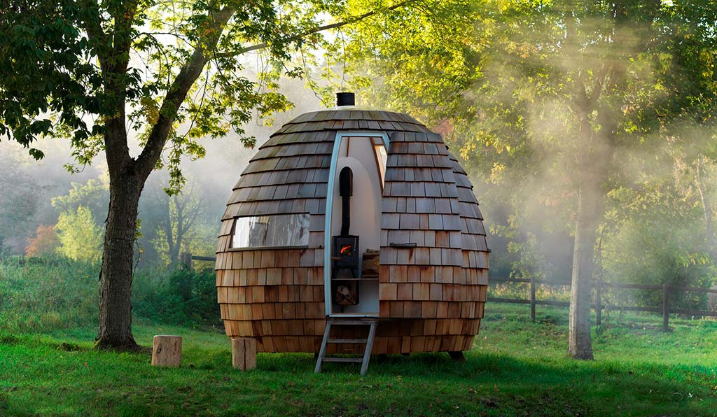 Деревянное бунгало Escape Pod от Podmakers Ltd