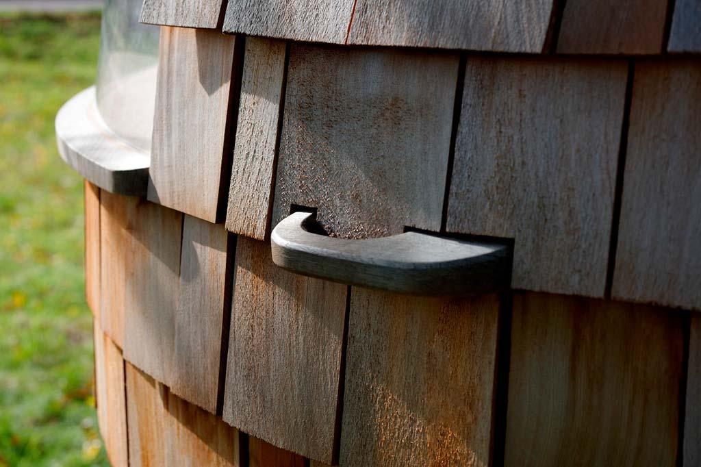 Бунгало Escape Pod из натуральной древесины