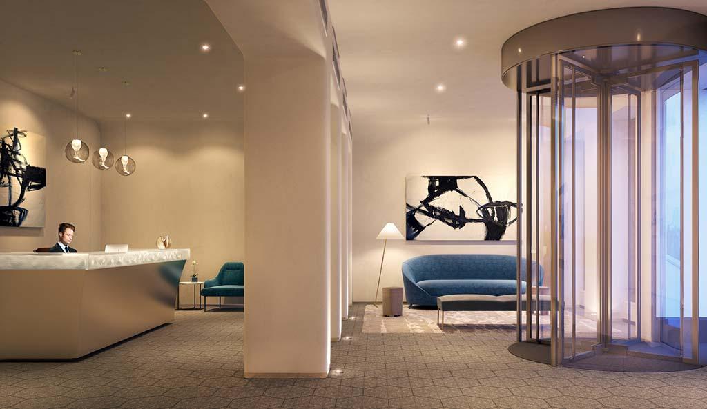 Ресепшн в башне 30 E 31 от Morris Adjmi Architects