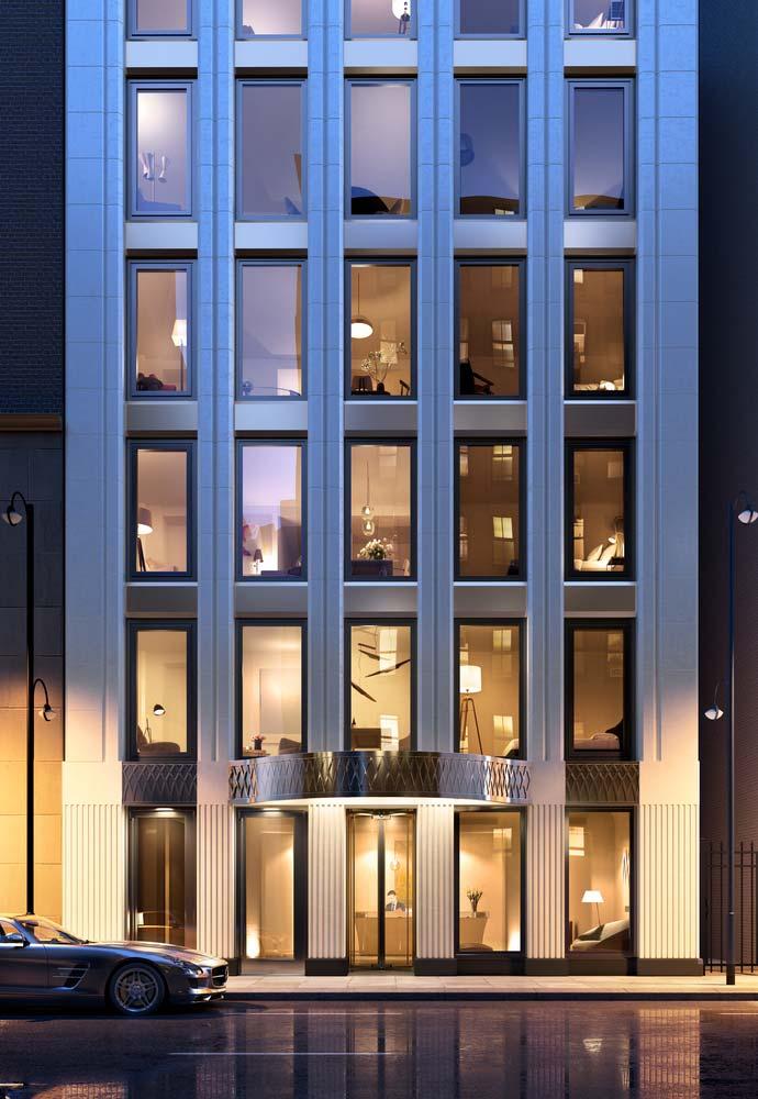 Жилой 40-этажный небоскреб на Манхэттене
