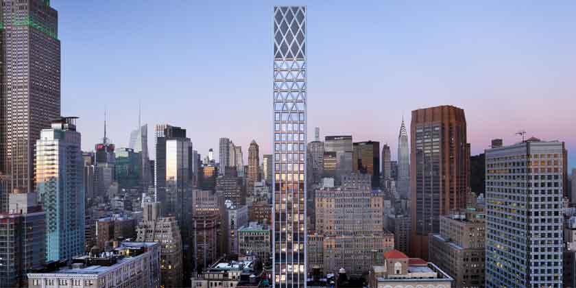 Студия Morris Adjmi построит готический небоскреб в Нью-Йорке