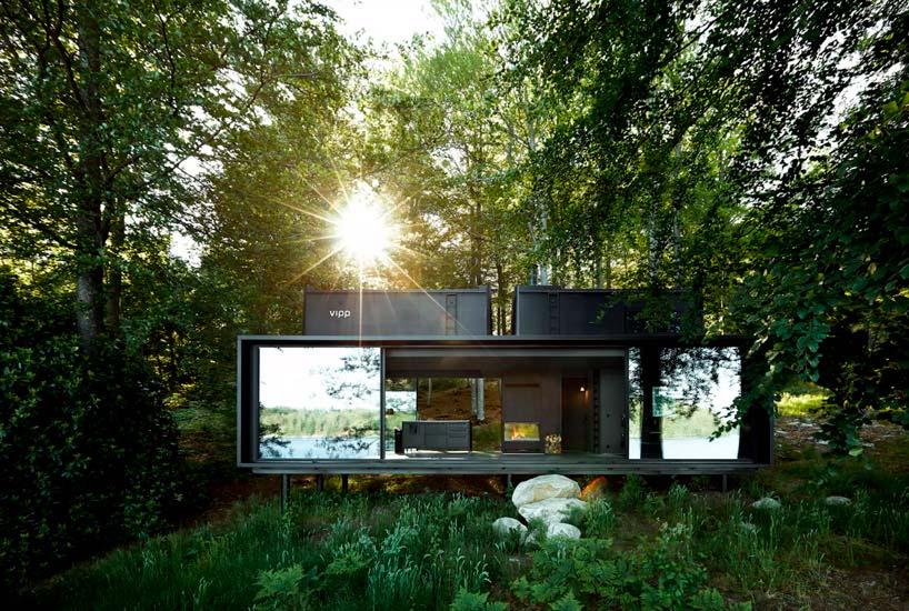 Мини-отель, дом у озера в шведском лесу Vipp Shelter