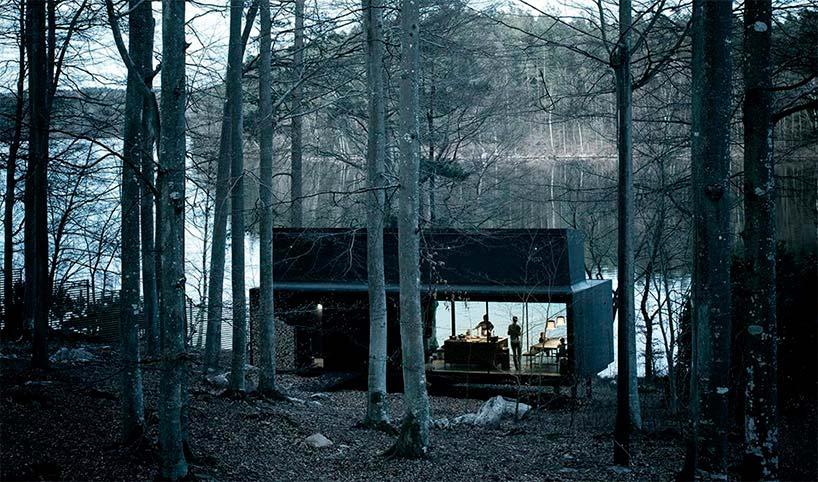 Мини-отель Vipp Shelter в лесу Швеции