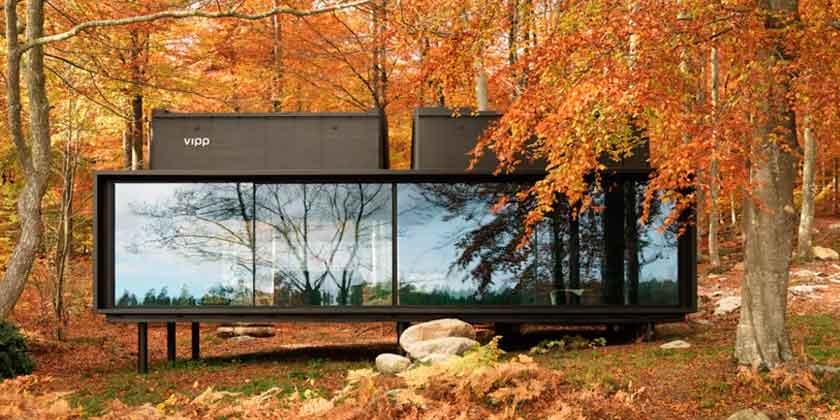 Мини-отель дом в шведском лесу Vipp Shelter