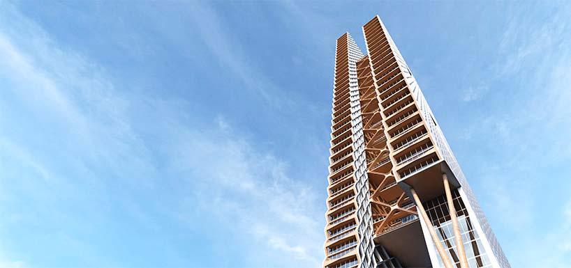 Самый высокий деревянный небоскреб в мире от Perkins + Will