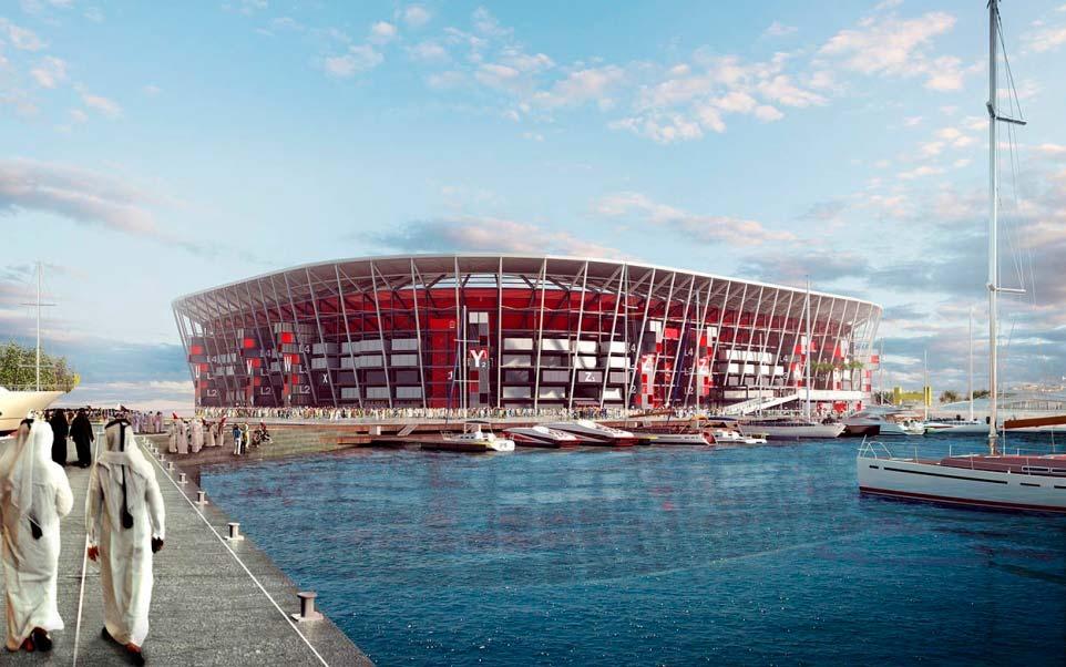 Стадион из транспортных контейнеров для ЧМ 2022 года в Катаре