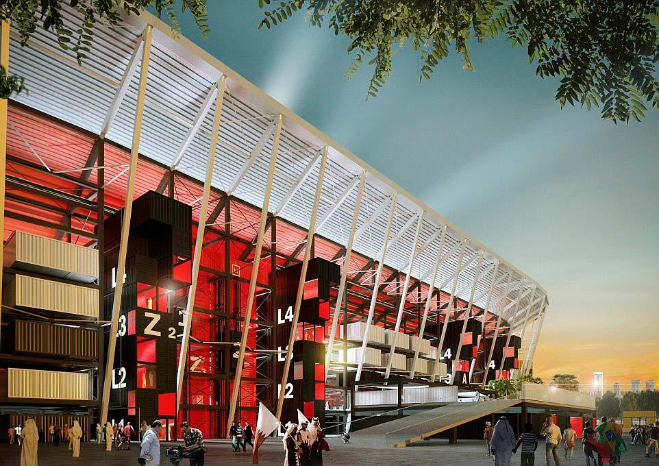 Модульный стадион для чемпионата мира 2022 года в Катаре