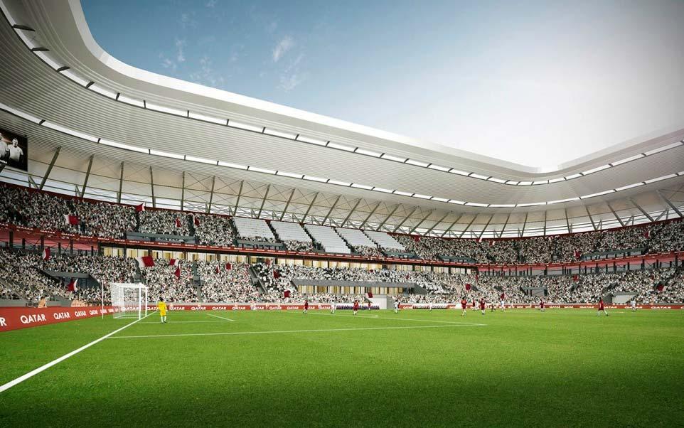 Стадион из контейнеров Ras Abu Aboud в Катаре