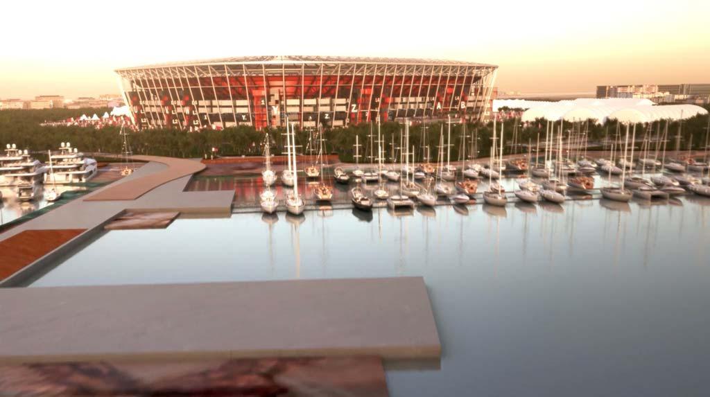 Модульный стадион от Fenwick Iribarren Architects