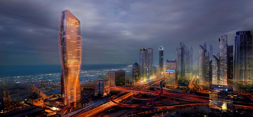300-метровый небоскреб в Дубае Wasl Tower от UNStudio
