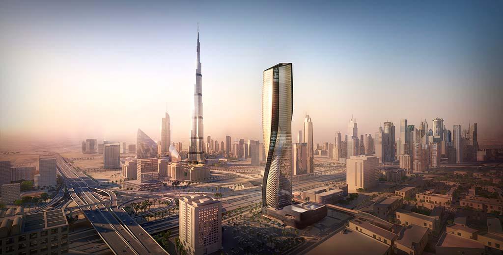 Супер-небоскреб в Дубае Wasl Tower от UNStudio