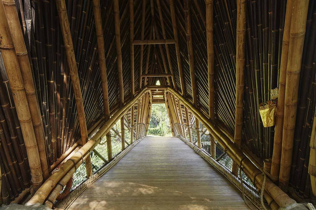 Бамбуковый мост без гвоздей на Бали