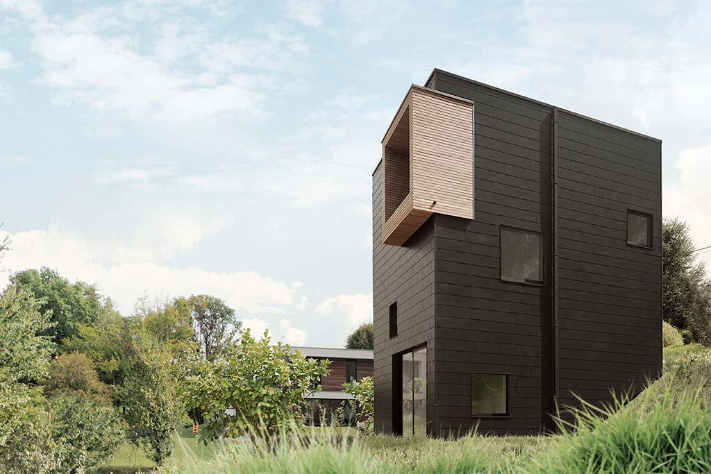 Трёхэтажный дом по проекту URBAN architectes