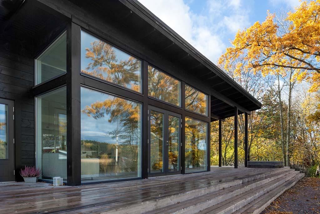 Финский дом у озера. Проект Pluspuu Oy